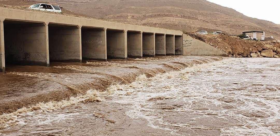 منسوب مياه سد مأرب مع عبارات الفلج اليوم الاحد 9 اغسطس 2020